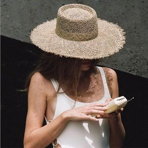 Lack of Color // Fray Sunnydip Boater Hat - Medium